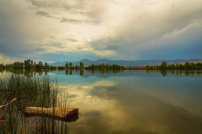 Poster featuring the photograph Boulder County Colorado Calm Before The Storm by James BO Insogna