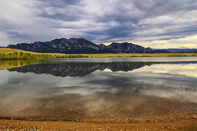 Boulder Flatirons From Marshall Lake Poster