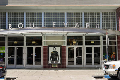 Boulevard Cinemas Theater In Petaluma California Usa Dsc3832 Poster by Wingsdomain Art and Photography