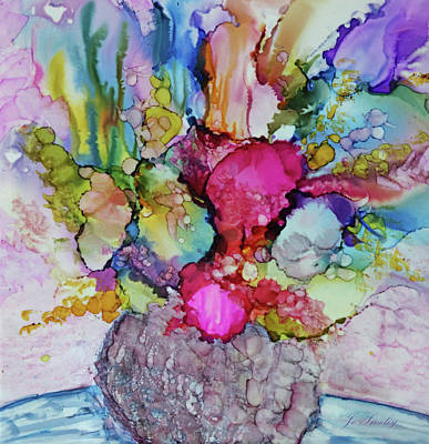 Poster featuring the painting Bouquet In Pastel by Joanne Smoley