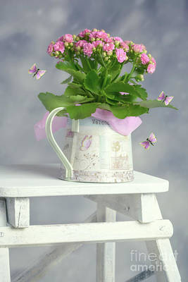 Bouquet In Watering Can Poster