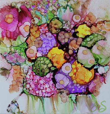 Poster featuring the painting Bouquet Of Blooms by Joanne Smoley