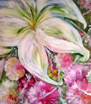 Bouquet With White Lily Poster