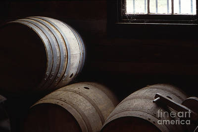 Bourbon Barrels Poster by Lowell Anderson