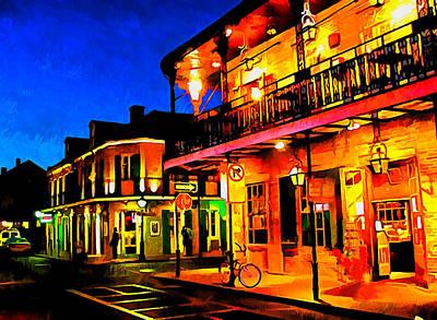 Bourbon Street 2 Poster by Dennis Wickerink