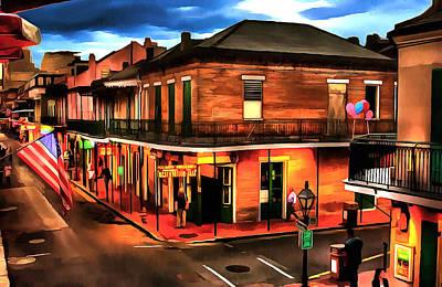 Bourbon Street Poster by Dennis Wickerink