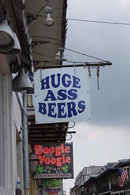 Bourbon Street Signs Poster