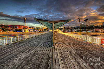 Poster featuring the photograph Bournemouth Pier Sunrise 2.0 by Yhun Suarez