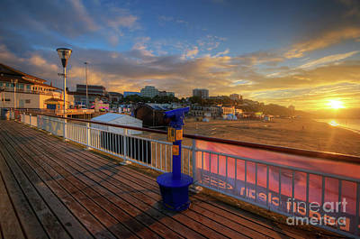 Poster featuring the photograph Bournemouth Pier Sunrise by Yhun Suarez