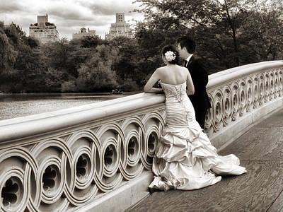 Bow Bridge Wedding Poster by Jessica Jenney