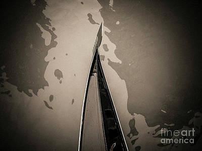 Bow Of A Gondola, Venice, Italy, Europe Poster by Bernard Jaubert