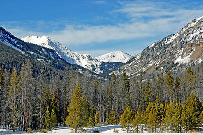 Bowen Mountain In Winter Poster