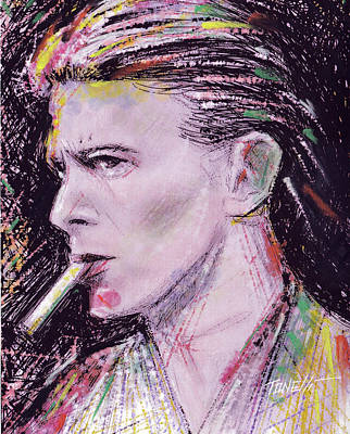 Bowie Close-up Poster