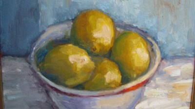 Bowl Of Lemons Poster
