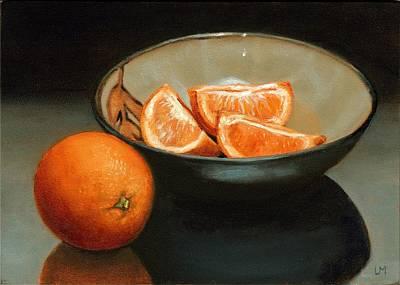 Bowl Of Oranges Poster