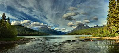 Bowman Lake Montana Poster by Adam Jewell