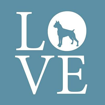 Boxer Love Poster by Nancy Ingersoll
