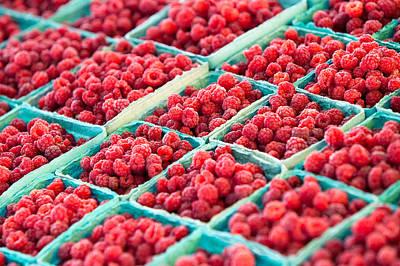 Boxes Of Raspberries Poster by Todd Klassy