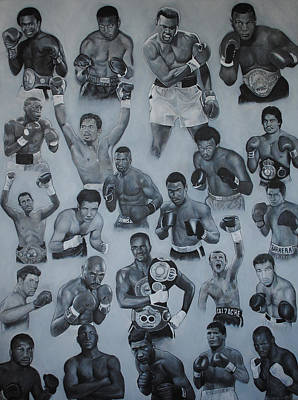 Poster featuring the painting Boxing's Greatest by David Dunne