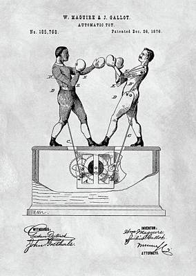 Boxing Toy Patent  Poster by Dan Sproul