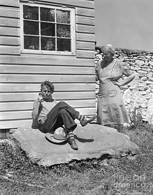 Boy Caught Smoking Pipe, C.1940s Poster