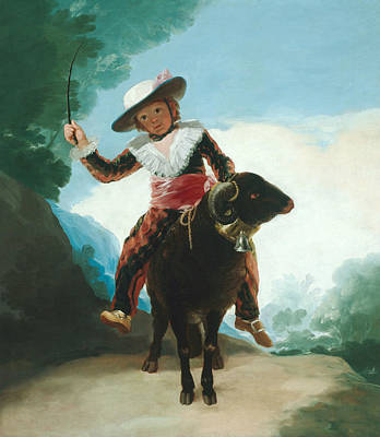 Boy On A Ram Poster by Francisco Goya