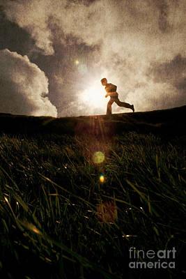 Boy Running Poster