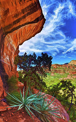 Boynton Canyon Cliffs 1 Poster by ABeautifulSky Photography