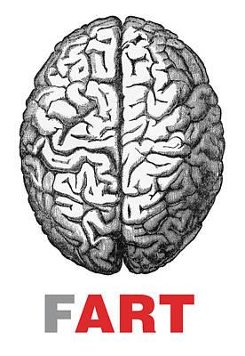 Brain Fart Poster by Craig McCausland