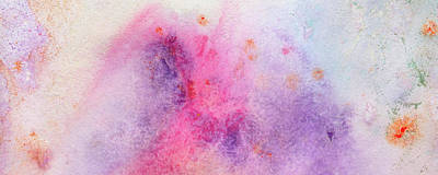 Brand New Morning - Bright Colorful Pastel Abstract Painting Poster by Modern Art Prints