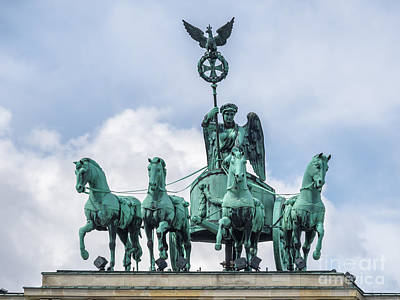 Brandenburger Tor In Berlin Germany Poster by Frank Bach
