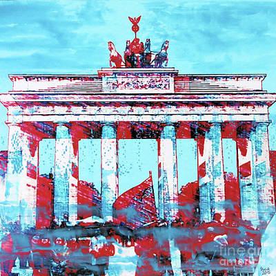 Brandenburger Tor In Blue Poster