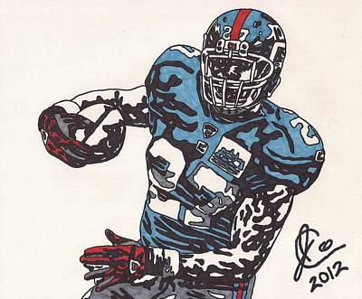 Brandon Jacobs 1 Poster by Jeremiah Colley