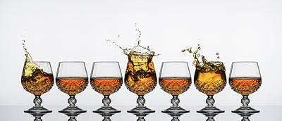 Brandy Glass Splash Poster by Andy Astbury