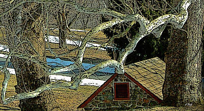 Brandywine Springhouse Poster by Gordon Beck