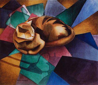 Braque's Cat Poster by Eve Riser Roberts