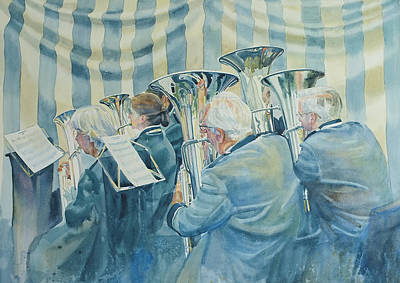 Brass Band Poster by Gilly Marklew