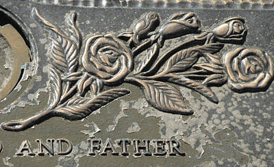 Brass Rose And Father Poster by M E Cieplinski