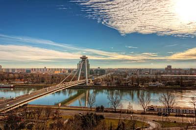 Bratislava Skyline - Slovakia Poster by Nico Trinkhaus
