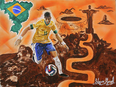 Brazil Poster by Shawn Morrel