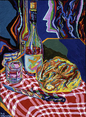 Bread And Wine Of Life Poster by Robert SORENSEN