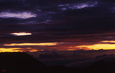 Break Of Dawn From Haleakala Maui Poster by Harvie Brown