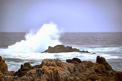 Breaker Wave Monterey California Poster by Barbara Snyder