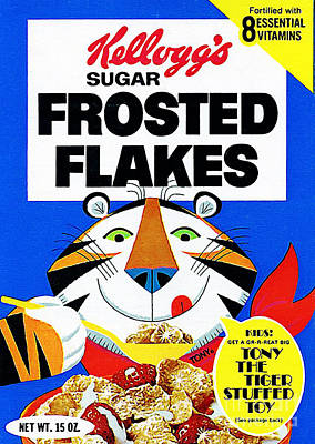 Breakfast Cereal Tony The Tiger Pop Art Nostalgia 20160215 Poster by Wingsdomain Art and Photography