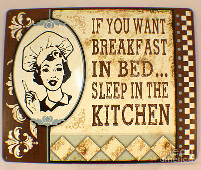 Poster featuring the painting Breakfast In Bed by Pg Reproductions