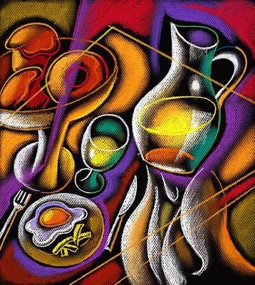 Breakfast Poster by Leon Zernitsky