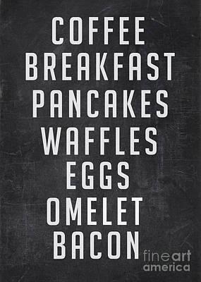 Breakfast List Poster by Edward Fielding