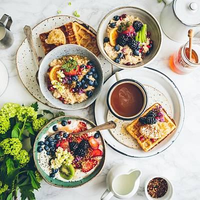 Breakfast Porridge Waffles Fruit 115145 2048x2048 Poster