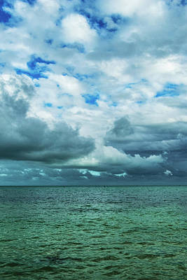 Poster featuring the photograph Breaking Clouds In Key West, Florida by Bob Slitzan