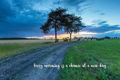Breaking Dawn Country Road New Day Poster